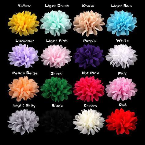 shop large flower headband on wanelo aliexpress buy 100pcs lot large chiffon flowers 4