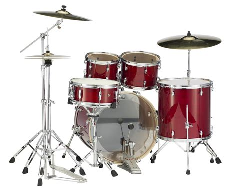 Set Drum Pearl Merah Asik pearl drums exl725 246 5 drum kit in cherry