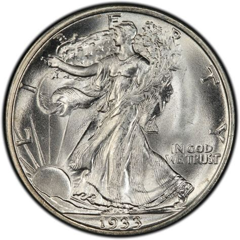 1933 walking liberty half dollar values and prices past