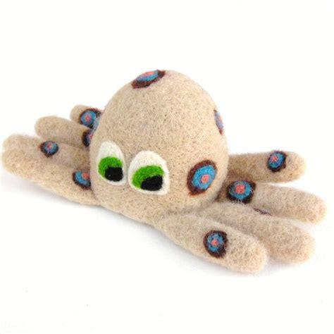 Handmade Felt Toys - felted octopus handmade felt toys