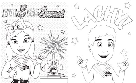 Cool Emma Colouring In Download With Wiggles Coloring Page Wiggles Colouring Pages