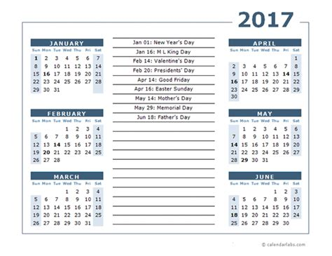2018 two months per page vertical stacked printable calendar