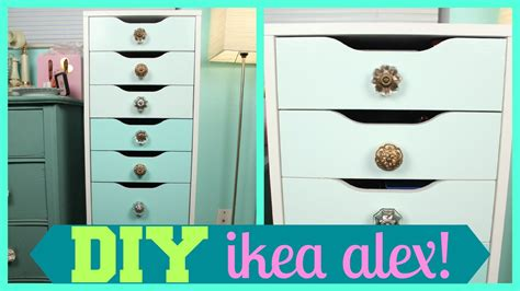 diy ombre alex drawers makeup storage tutorial