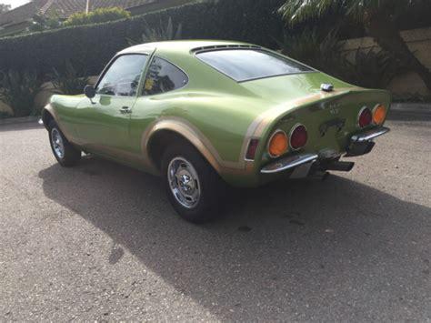 1973 Opel Gt Parts 1973 Opel Gt Jade Mist 79 000 Original Rblt