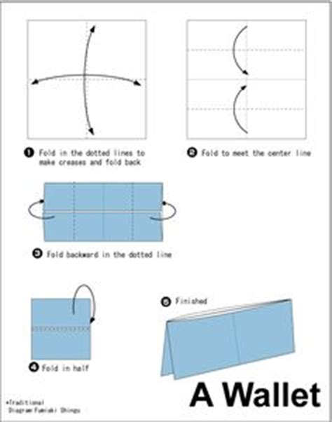 How To Fold A Wallet Out Of Paper - 1000 ideas about origami wallet on origami