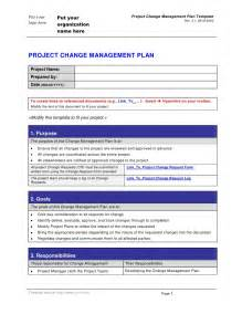 change management template change management plan template