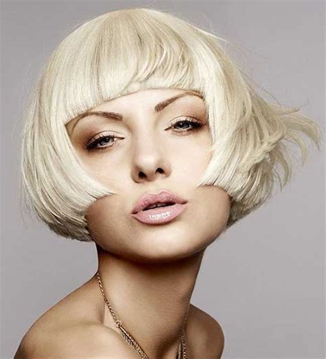 blonde bob with bangs short blunt haircuts the best short hairstyles for women