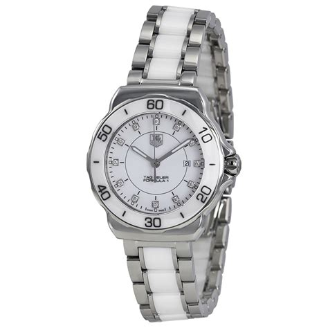 tag heuer ladies formula 1 watch tag heuer formula 1 white dial stainless steel white