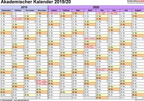 akademischer kalender  als word vorlagen