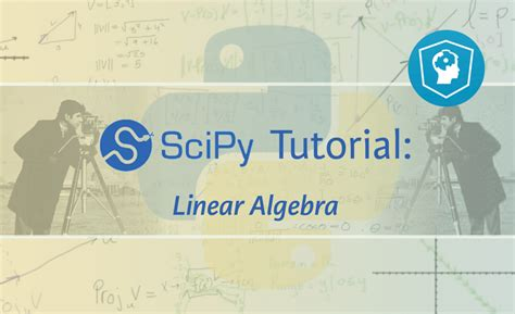online tutorial linear algebra scipy tutorial linear algebra hacker noon