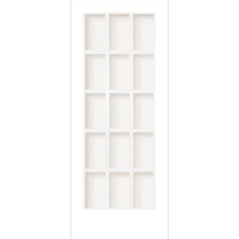 Home Depot Interior Glass Doors Milette Interior Door Primed With 15 Lites Clear Glass 36 Inches X 80 Inches Home