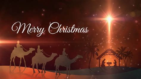 merry christmas animation motion graphics loop youtube