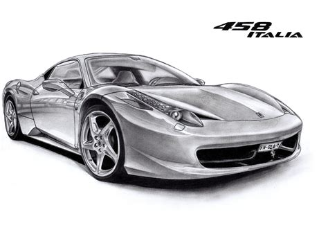 ferrari 458 sketch ferrari 458 by francoissmit on deviantart