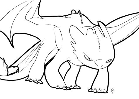 toothless lineart by adzstitch on deviantart
