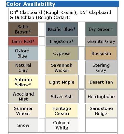 certainteed vinyl siding color chart vinyl siding colors michigan vinyl siding colors