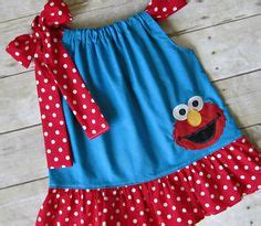 White Elmo Dress Piyama elmo birthday sesame inspired and white polka dots elmo birthday and elmo