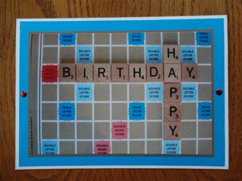 scrabble card scrabble birthday card handmade greeting cards