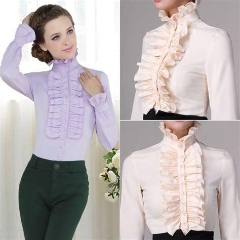 Dyane Ruffle Top B L F women s ruffled shirts blouses fashion ql