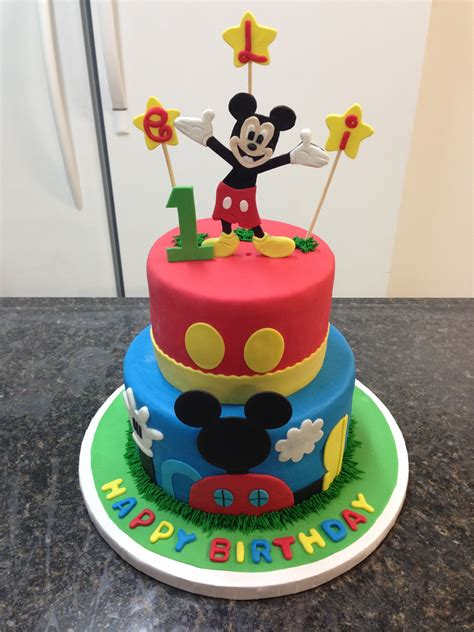 childrens birthday cakes mickey mouse st birthday cake