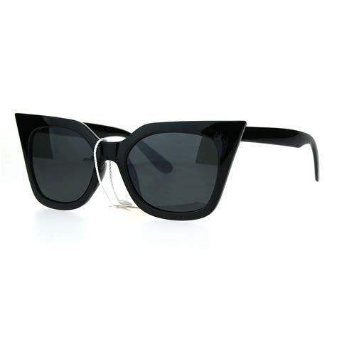 Chic Sunglasses by Womens Color Mirror Retro Oversize Cat Eye Chic