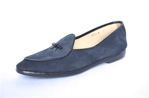 belgian slippers belgian shoes womens blue navy suede bow leather slip