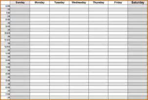 9 blank weekly schedule wedding spreadsheet