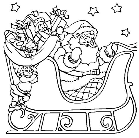 Santa In A Sleigh Coloring Page uu27itu santa sleigh coloring pages