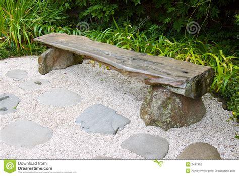 japanese garden bench bench in japanese garden stock photography image 2487992