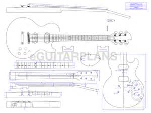 single cut electric guitar plan