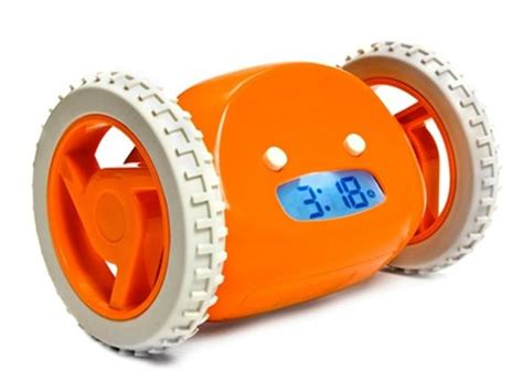 Alarm Wheels clocky alarm clock on wheels