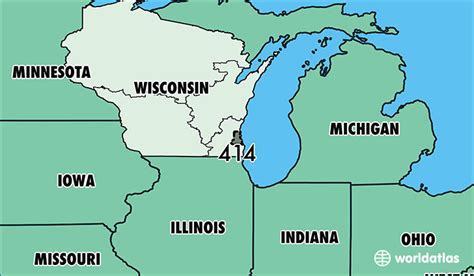 us area code locations where is area code 414 map of area code 414 milwaukee
