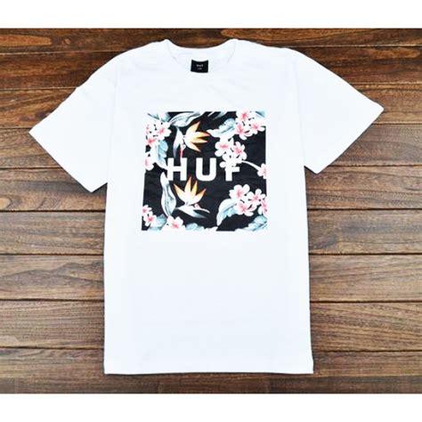 Tshirt Huf White huf floral box t shirt white