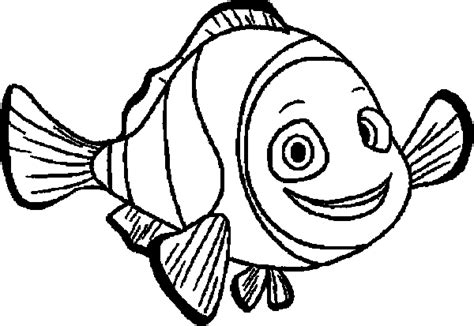 finding nemo coloring pages marlin finding nemo marlin smile finding nemo coloring pages