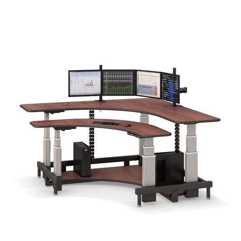 computer standing desk multi user computer desk hi tide adjustable height desks princeton series multi user open desk