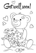 get well card coloring template get well soon coloring page free printable coloring pages