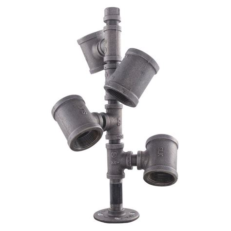 ldr industries pipe decor black iron pipe wine rack kit