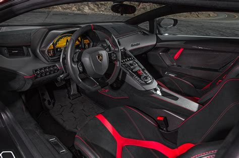 lamborghini aventador interior 2015 lamborghini aventador sv first test review