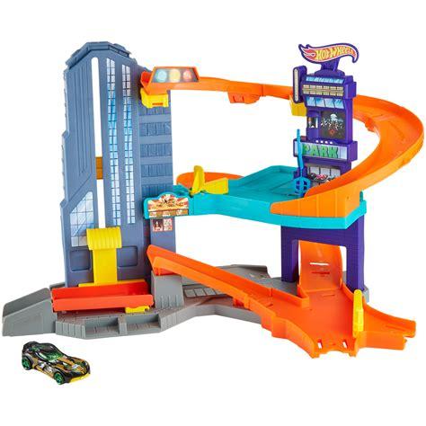 Wheels Garage Playset by Upc 887961422290 Launching Garage Speedtropolis Play