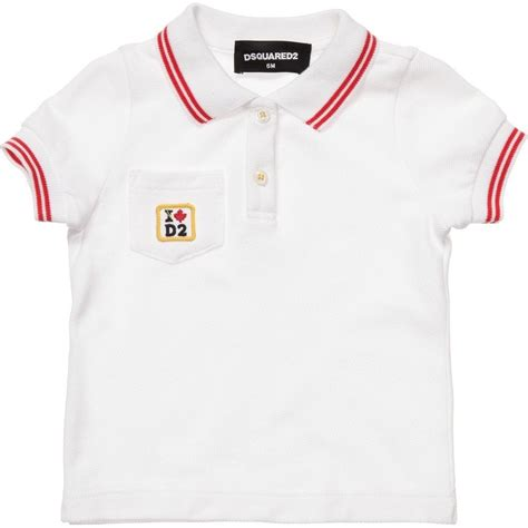 dsquared2 baby boys white polo shirt children boutique