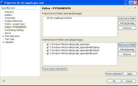 tutorial django eclipse google app engine python development with eclipse