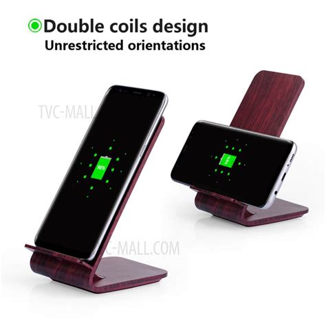 Wireless Charger Samsung A8 a8 10w fast charge qi wireless charging charger stand wooden for iphone 8 8 plus samsung galaxy