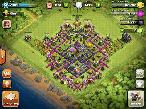 clash of clans strategy level 7 farming base design town hall villages farmeurs le ph 233 nix d or