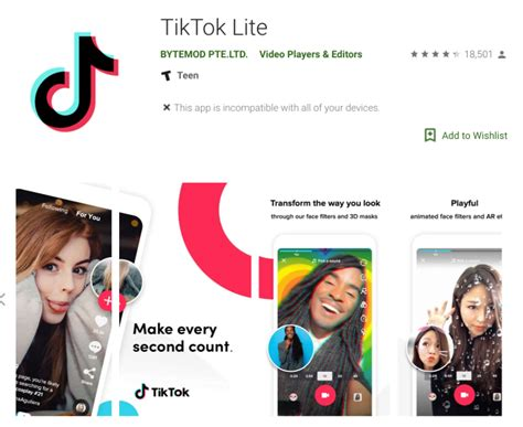 tiktok s quietly launched lite app has reached 12