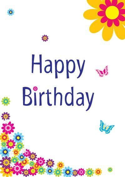 Happy Birthday Cards Template by Free Printable Birthday Cards For My Free