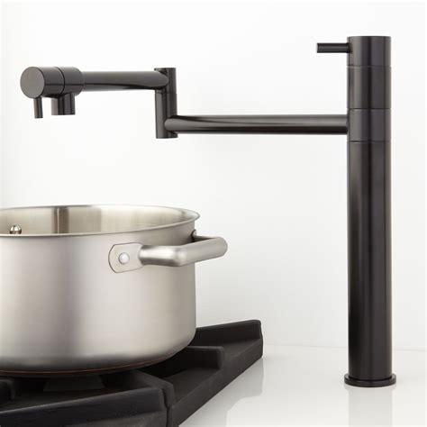 Maddox Deck Mount Retractable Pot Filler Faucet   Kitchen