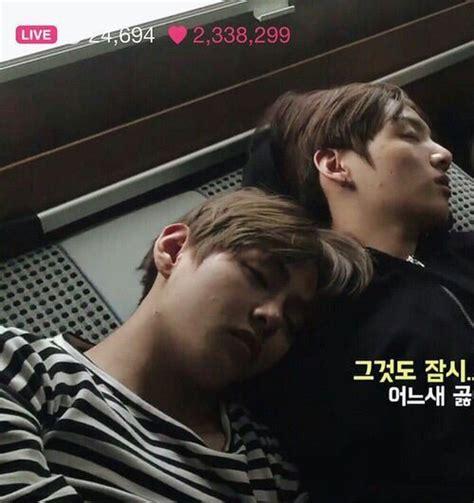 vkook sleeping   concept armys amino
