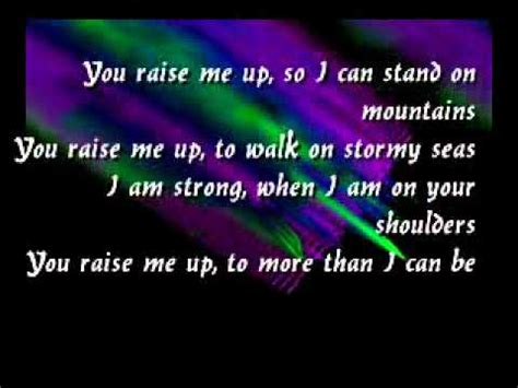 Raise Me Up Letra you raise me up celtic lyrics