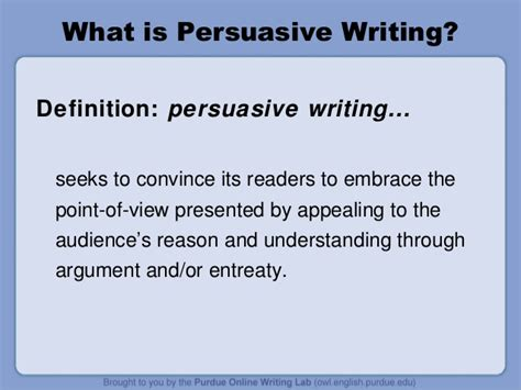 What Is A Essay by Owl Persuasive Writing