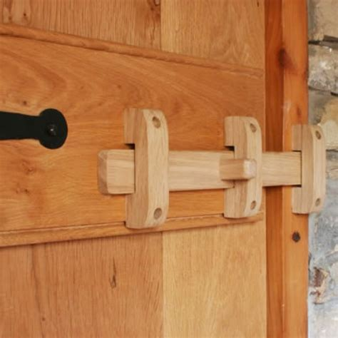 handcrafted solid oak  bolt