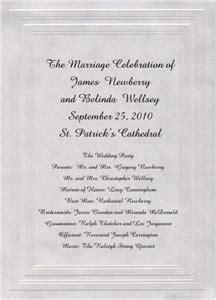 wedding ceremony program wording one page wedding programs wording etiquette storkie